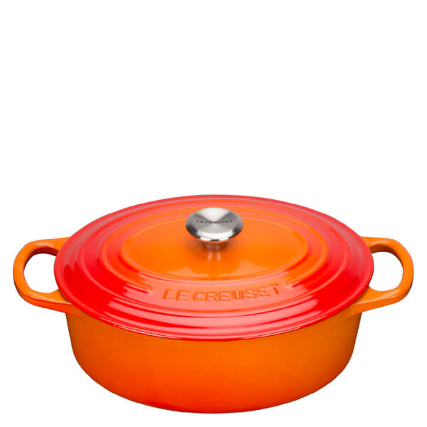 le creuset signature oval casserole dish 23cm volcanic iwoot