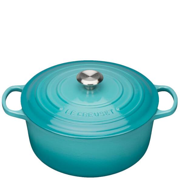 Le Creuset Signature Cast Iron Round Casserole Dish - 28cm - Teal
