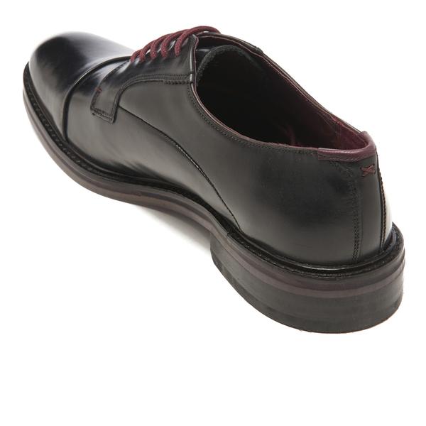 f18afbcbaf5e2 Ted Baker Men s Aokii Burnished Leather Toe Cap Derby Shoes - Black  Image 4