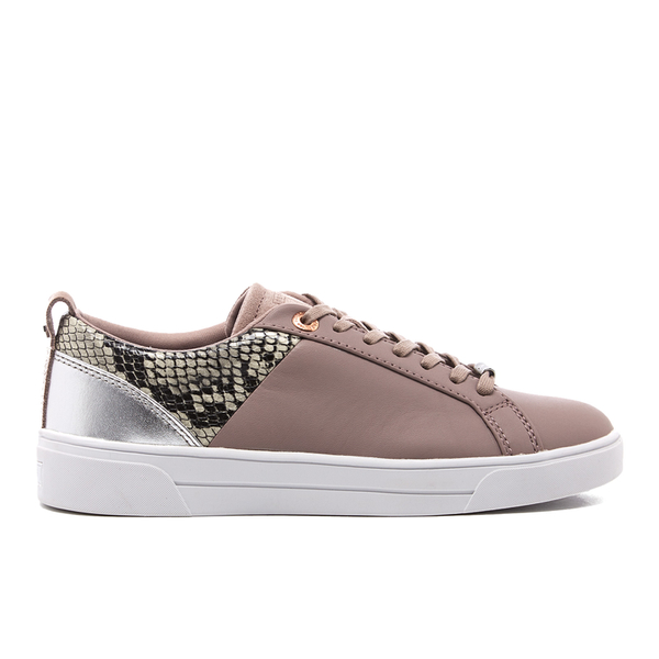 Ted Baker Women's Kulei Leather Cupsole Trainers - Mink