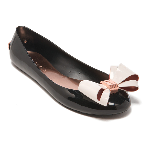 03f32620cfef Ted Baker Women s Julivia Bow Front Ballet Pumps - Black Cream  Image 2