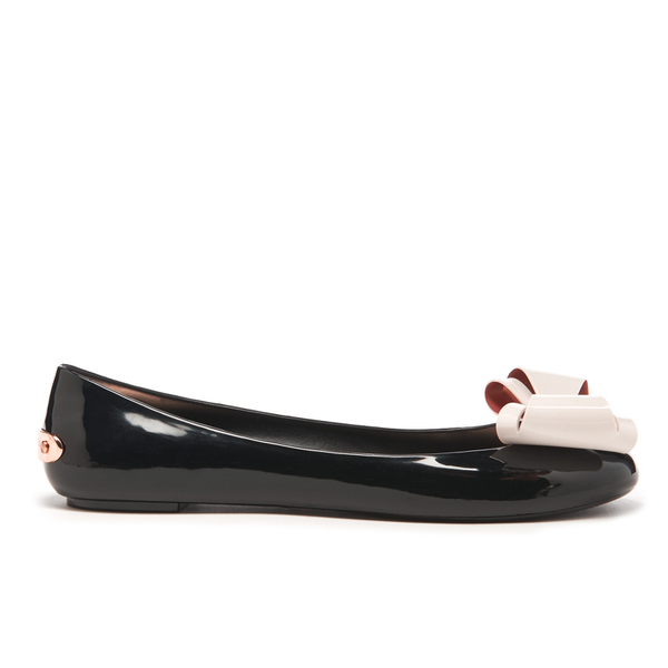 Ted Baker Women's Julivia Bow Front Ballet Pumps - Black/Cream