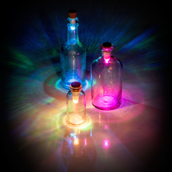 Bouteilles Lumineuses - Multicolore
