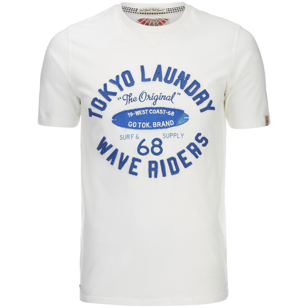 T-Shirt Homme Wave Riders Tokyo Laundry -Blanc