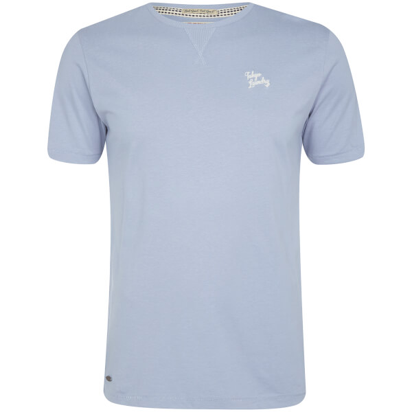 Tokyo Laundry Men's Essential Crew Neck T-Shirt - Placid Blue