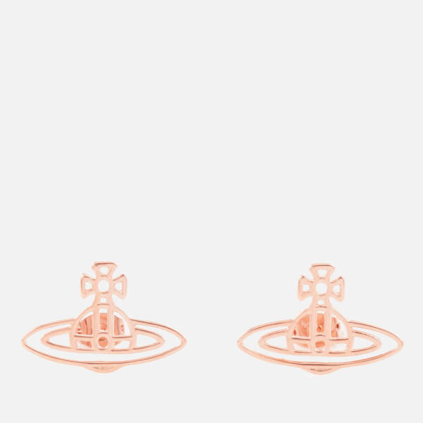 Vivienne Westwood Women's Thin Lines Flat Orb Earrings - Rose Gold