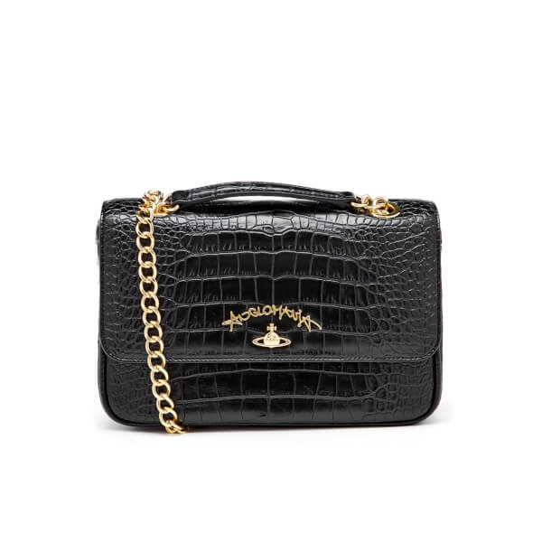 bd397e8bb6 Vivienne Westwood Women's Anglomania Dorset Croc Shoulder Bag - Black:  Image 1