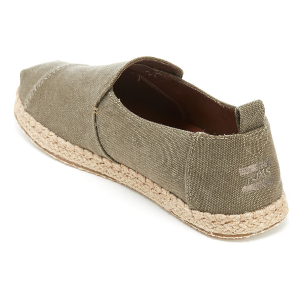 29d52d24c75 TOMS Men s Deconstructed Alpargata Espadrille Slip-On Pumps - Olive Washed  Canvas  Image 4