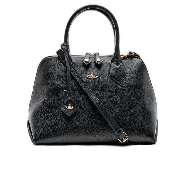 09042cd0c9 Vivienne Westwood Women s Balmoral Grain Leather Zip Around Tote Bag - Black   Image 1