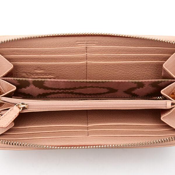 c784241b94 Vivienne Westwood Women's Balmoral Grain Leather Zip Around Wallet - Pink:  Image 4