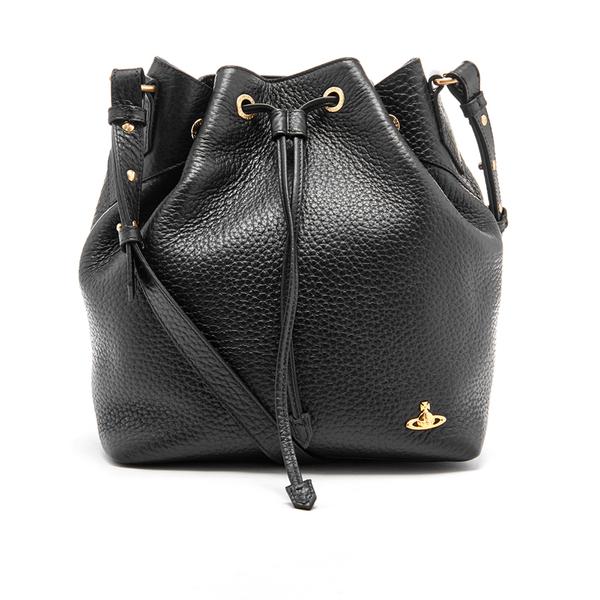 Vivienne Westwood Women's Belgravia Leather Bucket Bag - Black