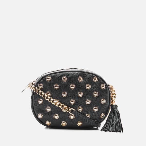 MICHAEL MICHAEL KORS Women's Ginny Studded Mid Messenger Bag - Black