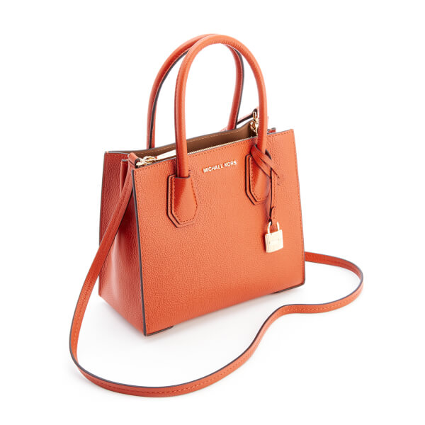 7f278aa6414a MICHAEL MICHAEL KORS Women s Mercer Mid Messenger Tote Bag - Orange  Image 3