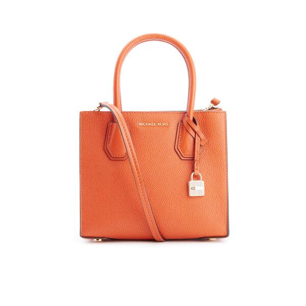 a7ac197a27 MICHAEL MICHAEL KORS Women's Mercer Mid Messenger Tote Bag - Orange: Image 1