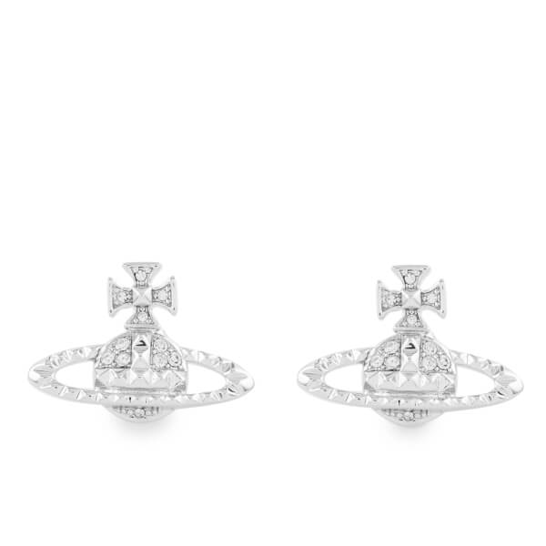 Vivienne Westwood Women's Mayfair Bas Relief Earrings - Crystal/Rhodium