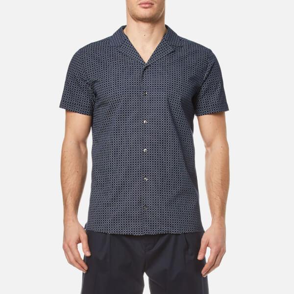 HUGO Men's Endo Short Sleeve Shirt - Navy