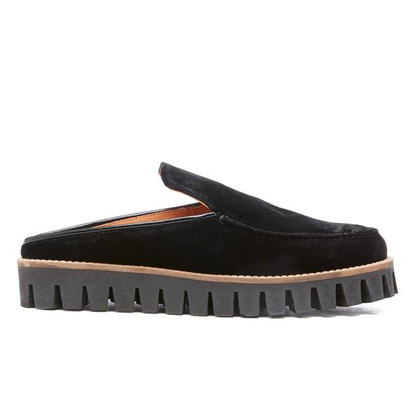 Ganni Women's Mimi Velvet Shoes - Black