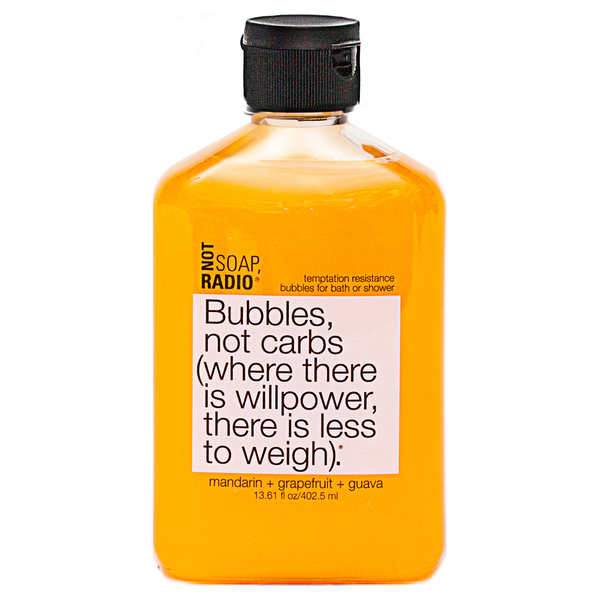 Not Soap Radio Bubbles, not carbs (where there is willpower, there is less to weigh) Bubbles for Bath/Shower 402.5ml