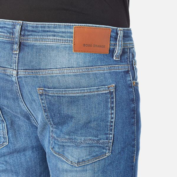 boss orange men 39 s orange 90 tapered jeans bright blue. Black Bedroom Furniture Sets. Home Design Ideas