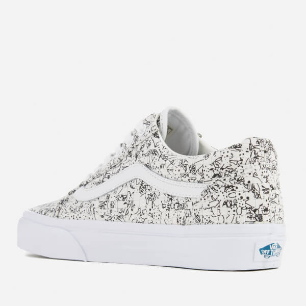 Vans Women s Old Skool Dx Woven Textile Trainers - Multi Colour White   Image 4 58095ca2c