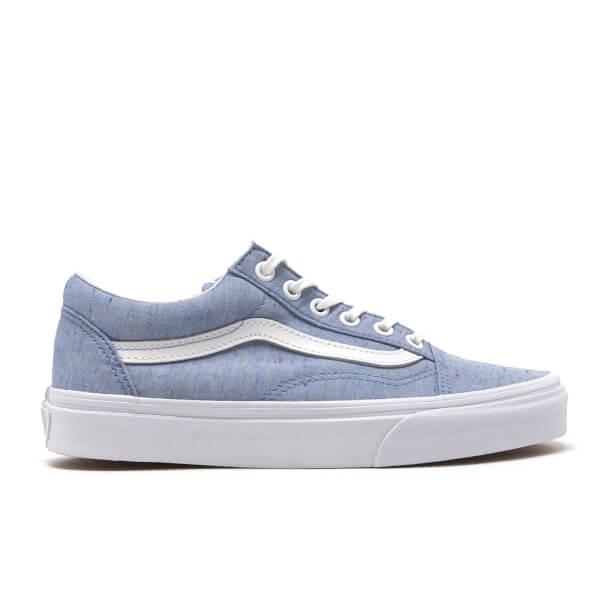 Vans Women's Old Skool Speckle Jersey Trainers - Blue/True White