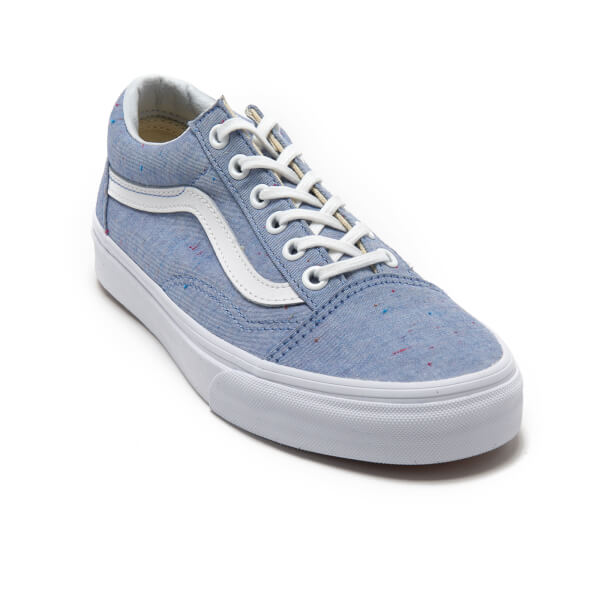 Vans Women s Old Skool Speckle Jersey Trainers - Blue True White  Image 2 ba2e20a64