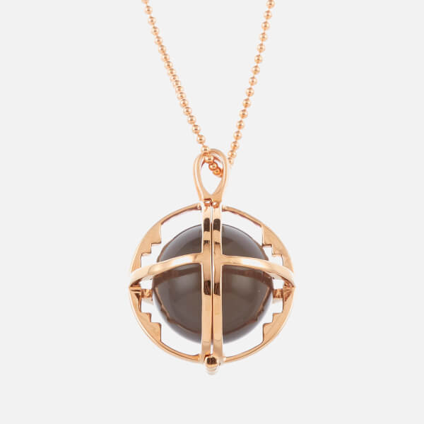 Kiki Minchin Women's The Roxy Cage Necklace - Grey Agate/Rose Gold