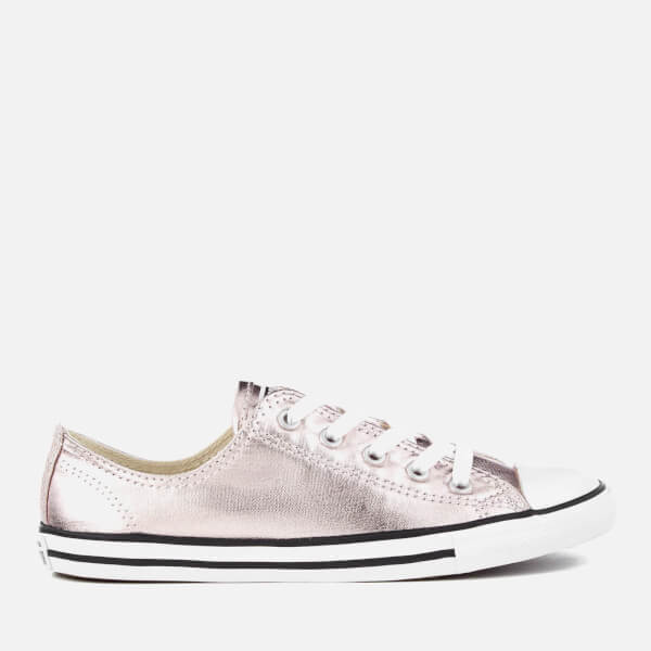 Converse Women s Chuck Taylor All Star Dainty Ox Trainers - Rose Quartz  Black White 7448a0c12