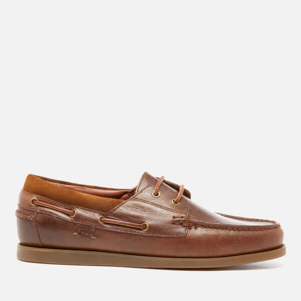 Polo Ralph Lauren Men's Dayne Smooth Oil Leather Boat Shoes - Light Tan