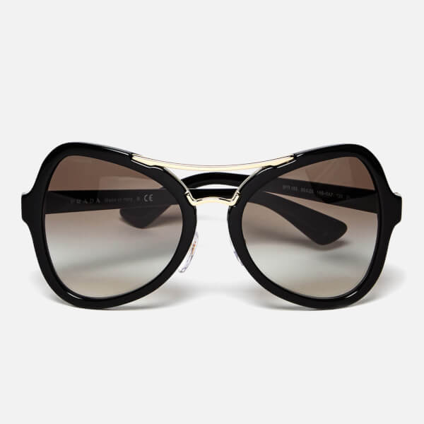 Prada Women's Catwalk Oversized Sunglasses - Black