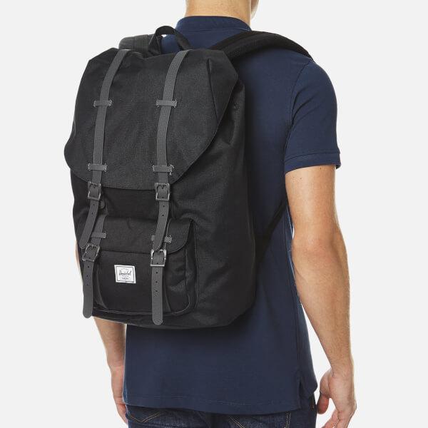 3de1c8ef94c Herschel Supply Co. Little America Backpack - Black Charcoal Debossed Rubber   Image 2