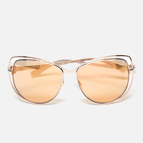 4416bb42365 MICHAEL MICHAEL KORS Women s Audrina I Sunglasses - Silver Rose Gold  Image  1