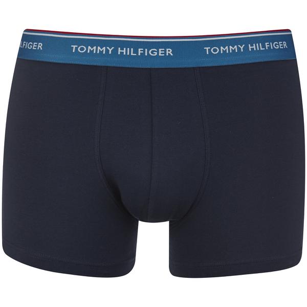tommy hilfiger men 39 s premium 3 pack trunk boxer shorts celestial blue french blue citrus. Black Bedroom Furniture Sets. Home Design Ideas