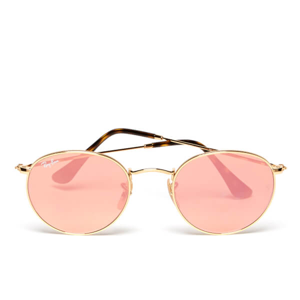 Ray-Ban Round Metal Copper Flash Frame Sunglasses - Shiny Gold/Copper