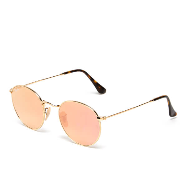 Ray Ban Round Frame Sunglasses : Ray-Ban Round Metal Copper Flash Frame Sunglasses - Shiny ...