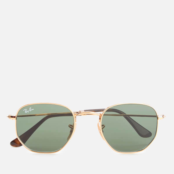 6ea6cc38ffc Ray-Ban Hexagonal Metal Frame Sunglasses - Gold Green  Image 1