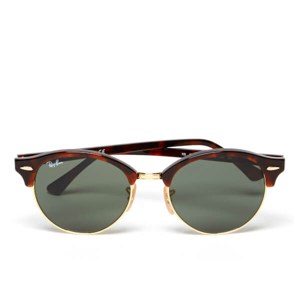 Ray-Ban Clubround Flat Lenses Half Metal Frame Sunglasses ...