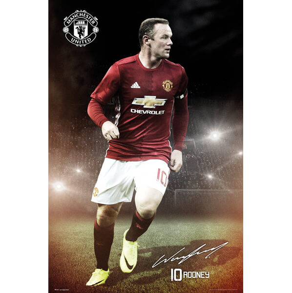 Manchester United Rooney 16/17 Maxi Poster - 61 x 91.5cm