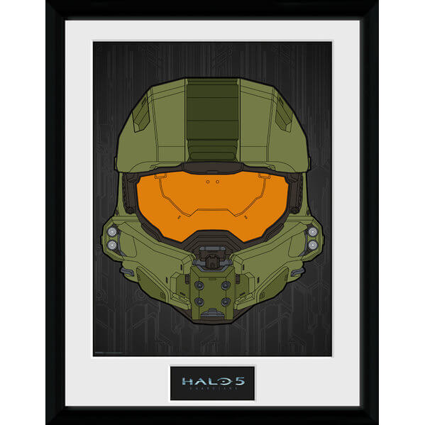 Halo 5 Mask Framed Photographic - 16