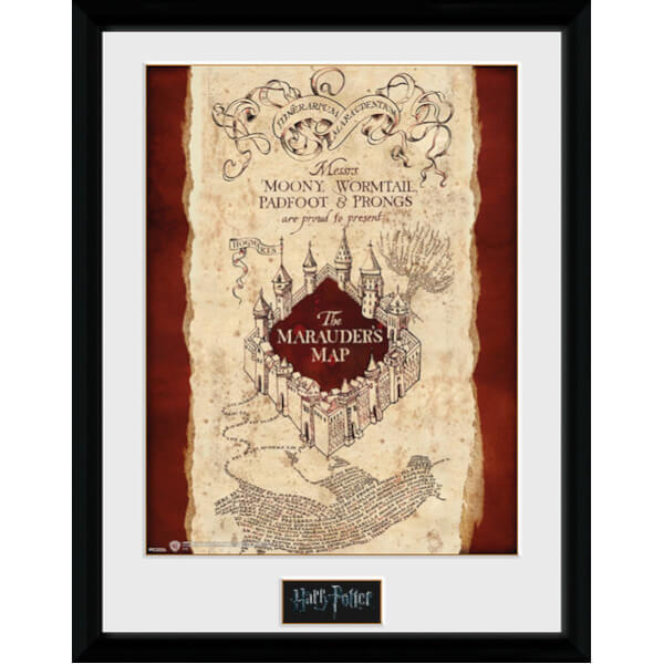 Harry Potter Marauders Map Framed Photographic - 16
