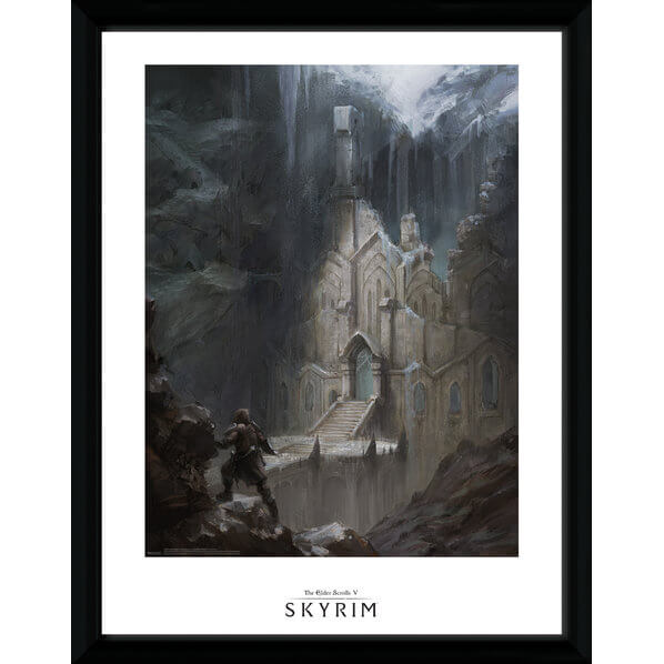 Skyrim Elf Temple Framed Photographic - 16