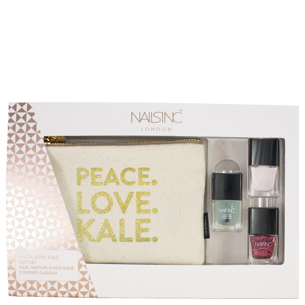 nails inc. Peace, Love, Kale Gift Set 3 x 5ml