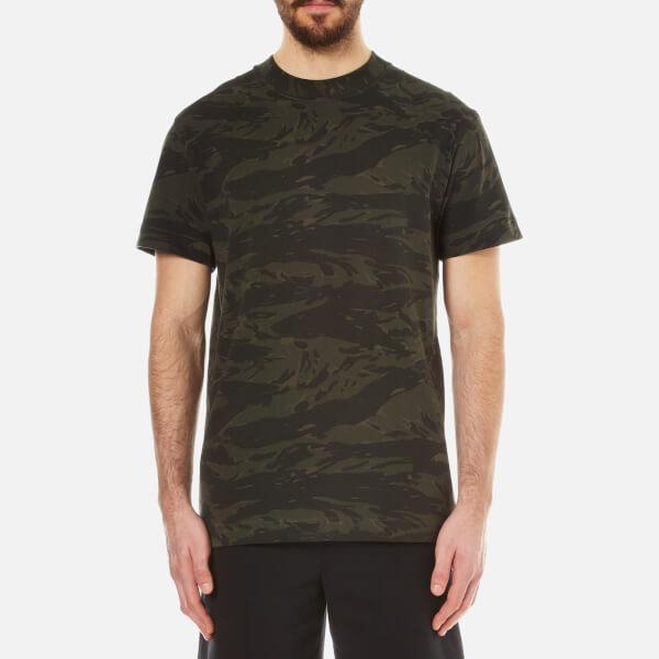 T by Alexander Wang Men's Camo High Neck Short Sleeve T-Shirt - Ivy