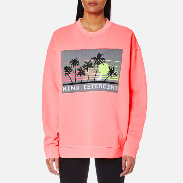 Alexander Wang Women's Oversized Sweatshirt with Knit Patch - Electric