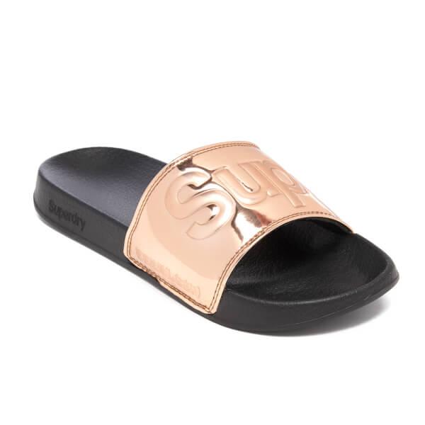 6160d730c095 Superdry Women s Pool Slide Sandals - Rose Gold  Image 2