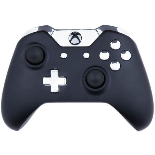 Custom Controllers Xbox One Controller - Matte Black & Chrome Silver