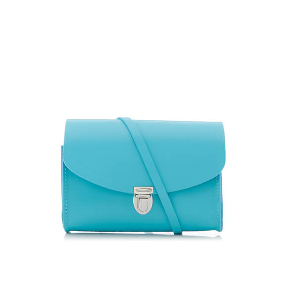 The Cambridge Satchel Company Women's Push Lock Shoulder Bag - Neon Blue