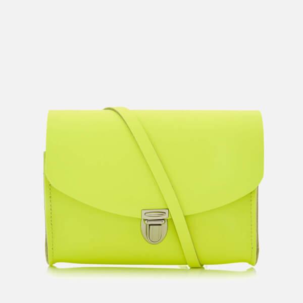 The Cambridge Satchel Company Women's Push Lock Shoulder Bag - Neon Yellow