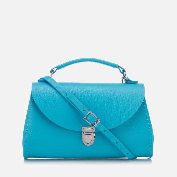 The Cambridge Satchel Company Women's Mini Poppy Bag - Neon Blue Saffiano