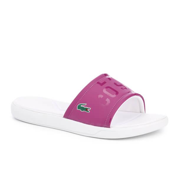 c2b019da202e32 Lacoste Women s L.30 Slide 117 1 Slide Sandals - Purple Womens ...
